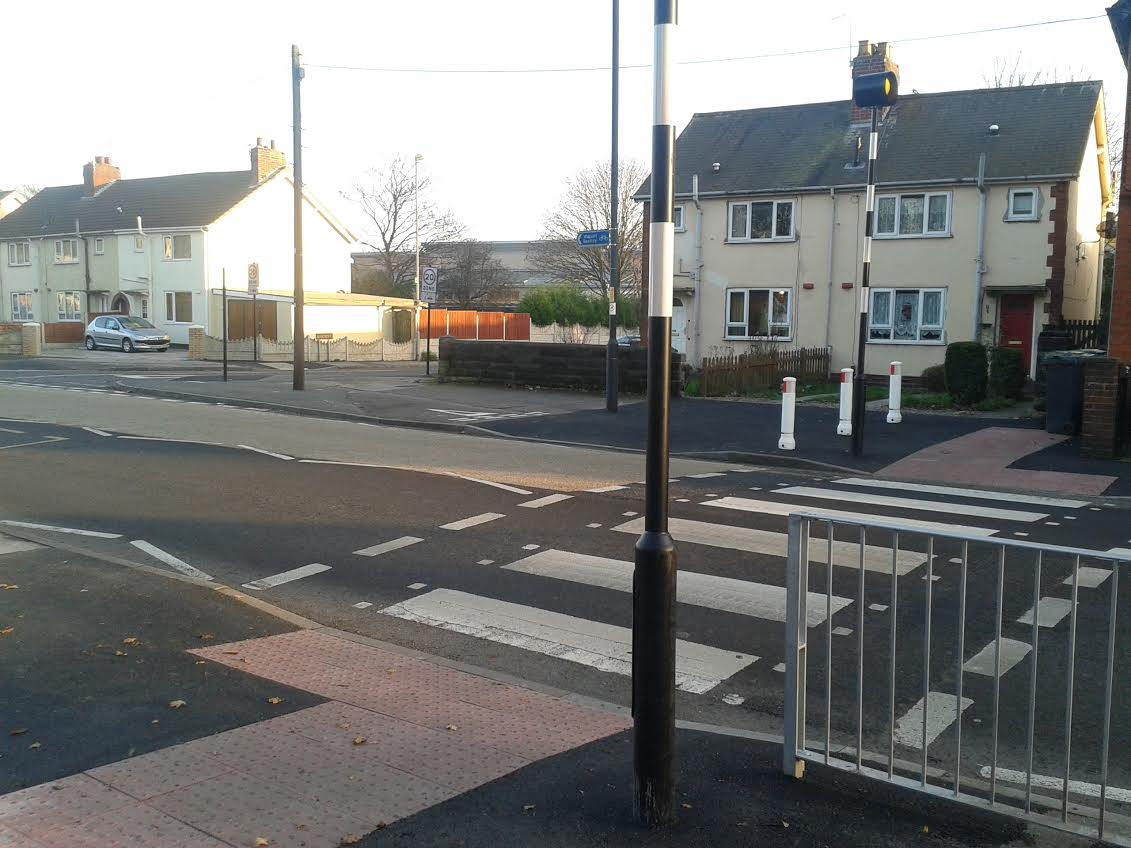 New Zebra Crossing at Barcroft Primary School