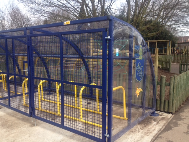 New Cycle Storage at St John's Primary School